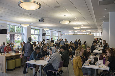 Students at City Eats Dining Center