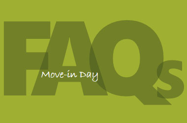 Text saying Move-in Day FAQs