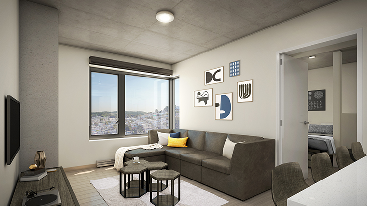 New student housing @ Holloway living room