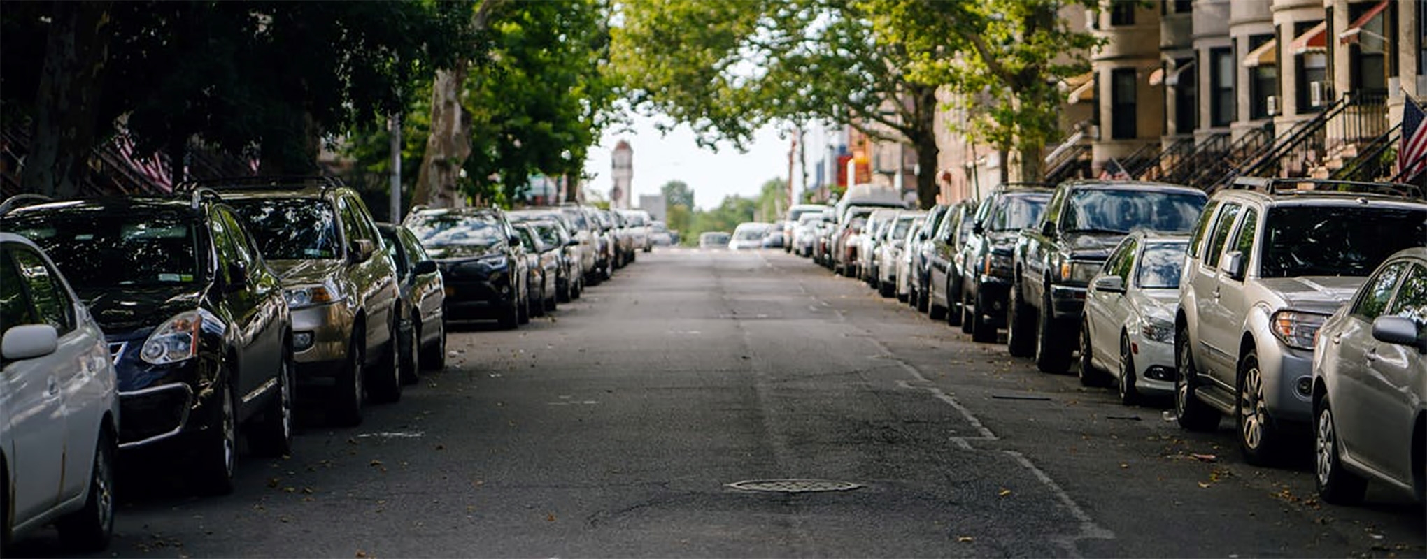 Street with parked cars